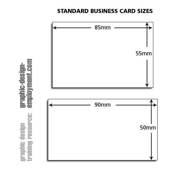 استانداردهای کارت ویزیت