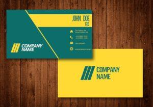 دانلود کارت ویزیت خلاقانه طرح زرد و سبز