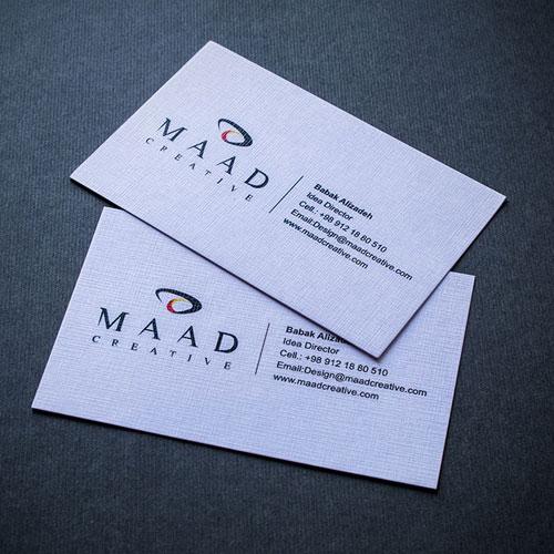 نوع کاغذ در طراحی کارت ویزیت