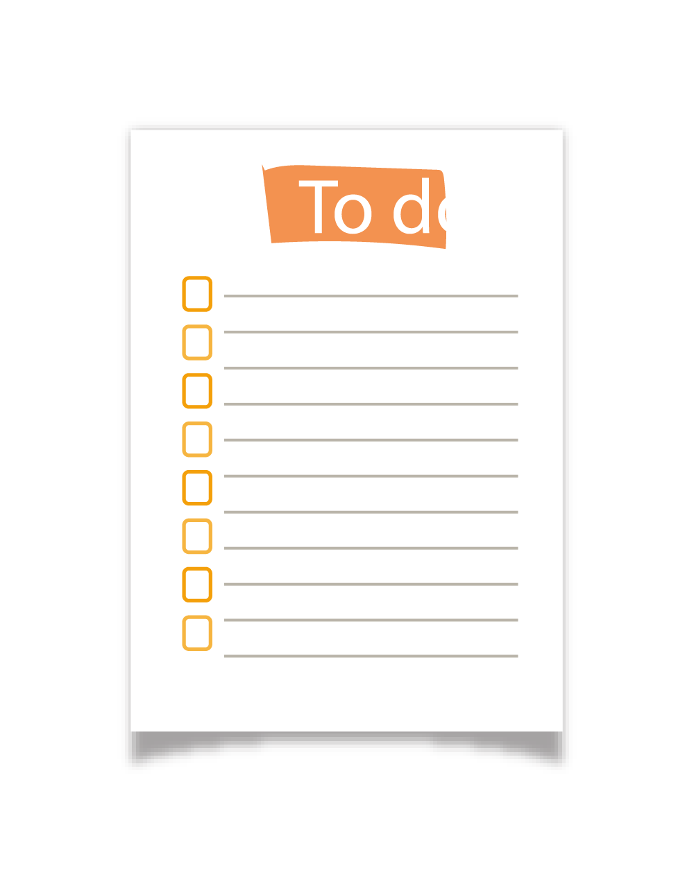 لیست وظایف روزمره